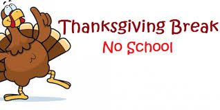 Thanksgiving Break is November 21-23.